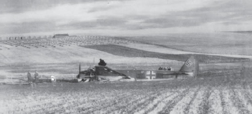 Ju 88 crash landed at Flotterston, Sandwick, West Mainland, Orkney on Christmas day 1940