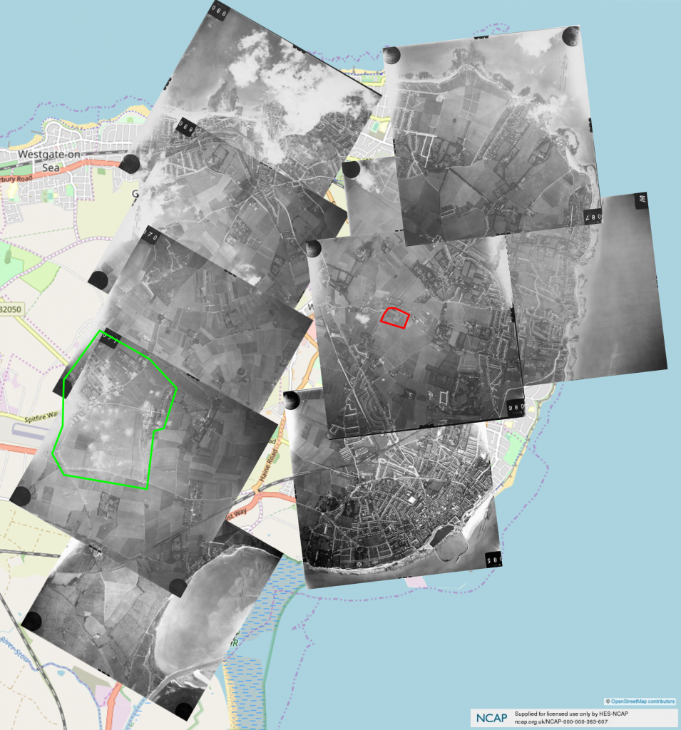 Luftwaffe reconnaissance photos of Thanet 1940-09-23